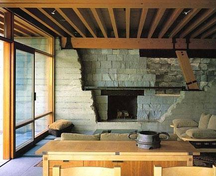 Bill Gates House- Fireplace