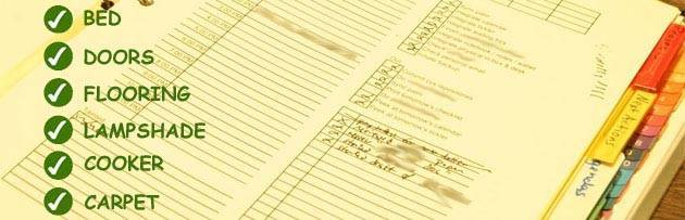 Inventory Form Checklist