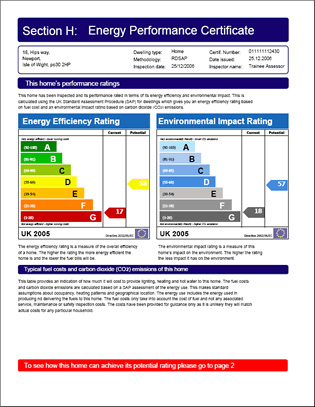 Energy Performance Certificate (EPC) Example