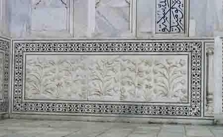 Taj Mahal Carved Stone