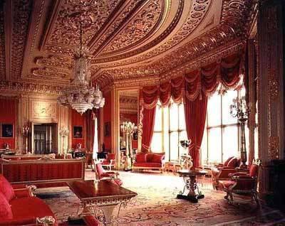 Windsor Castle Crimson Room