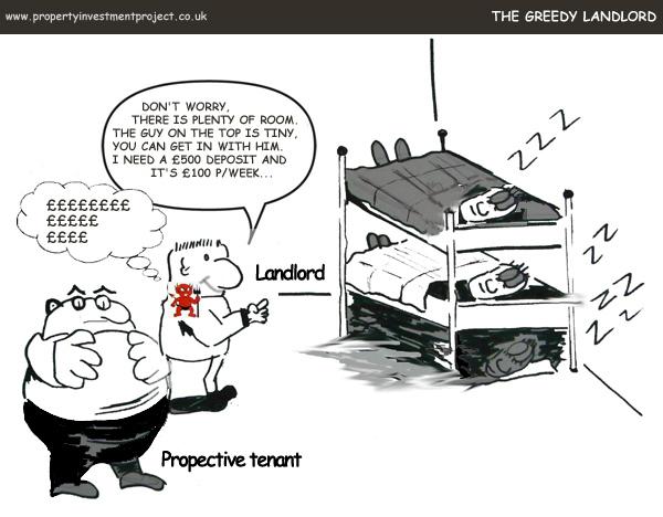 Greedy Tenant Comic