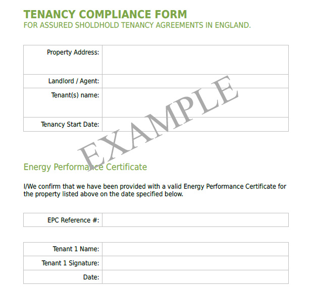 Tenancy Compliance Form Teaser